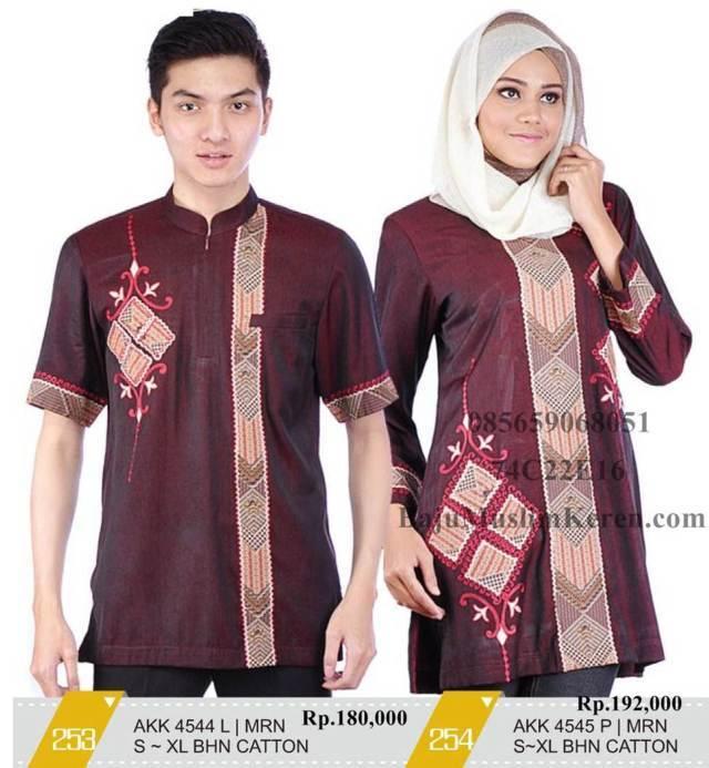 Contoh Model Baju Gamis Muslim Couple Terbaru Yang Laris