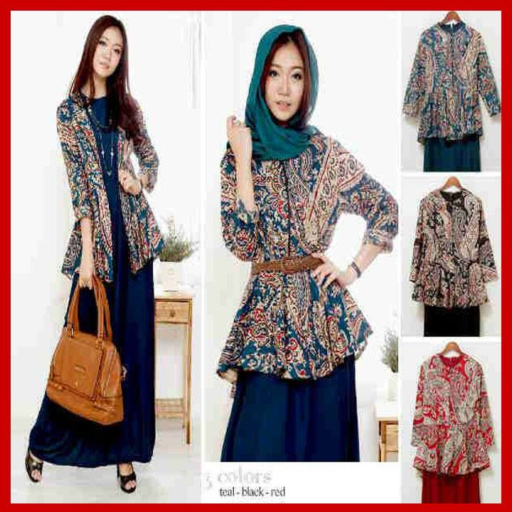40 Model Baju Batik Wanita Atasan Lengan Panjang Baju Gamis Batik