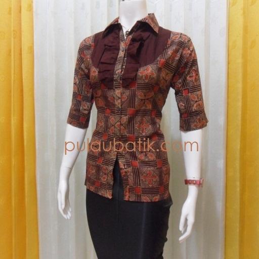 Model Baju Batik Wanita 2015: Contoh Baju Muslim Modern Untuk Kerja